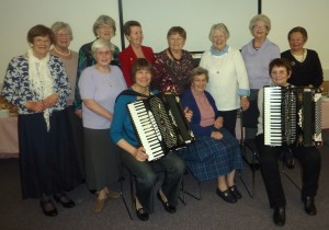 61st birthday with members and accordion entertainment