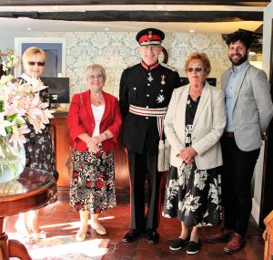 President, Philomena Whittle and Events Co-ordinator Gill Roberts together with James Dopson, General Manager Deans Place Hotel,  welcomed the Lord Lieutenant and Mrs Field.